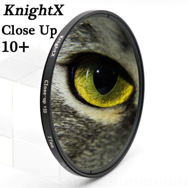 KnightX colse 10 + Lentille Filtre Ligne 49mm 52mm 55mm 58mm 67 MM 72mm 77mm Pour Canon EOS 650D 600D 1100D caméra DSLR D5100 D5200