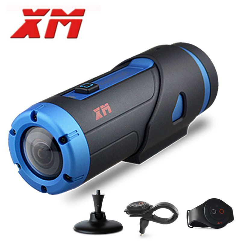 XM H.265 1080P HD Waterproof Starlight Night Vision Sports Camera Wifi Video DV Action Camera G-sensor With 3 Accessories