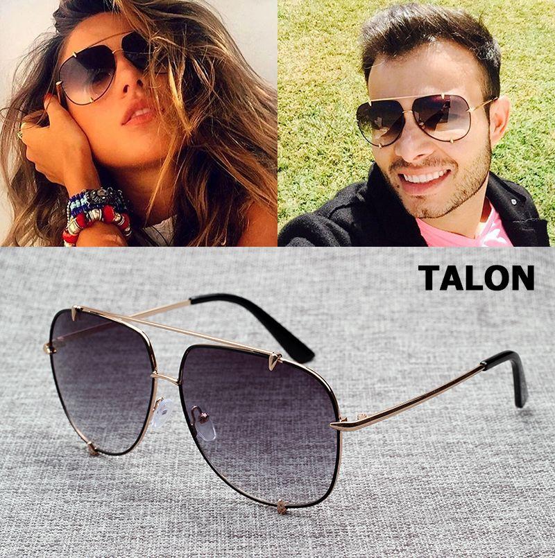 JackJad Hip Hop Fashion TALON Style Aviation Gradient Sunglasses Cool Metal Spikes Brand Design Sun Glasses Oculos De Sol 7056