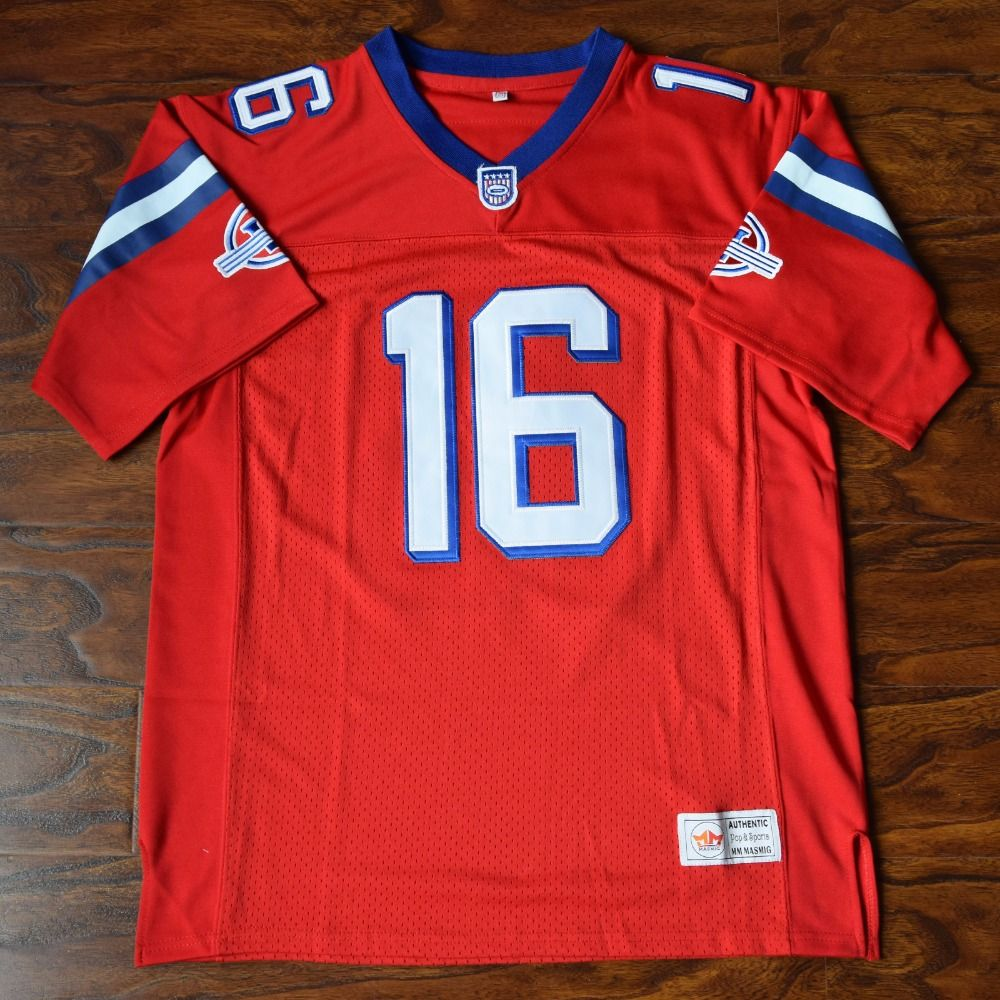 MM MASMIG Shane Falco #16 Football Jersey Stitched Red - The Replacements