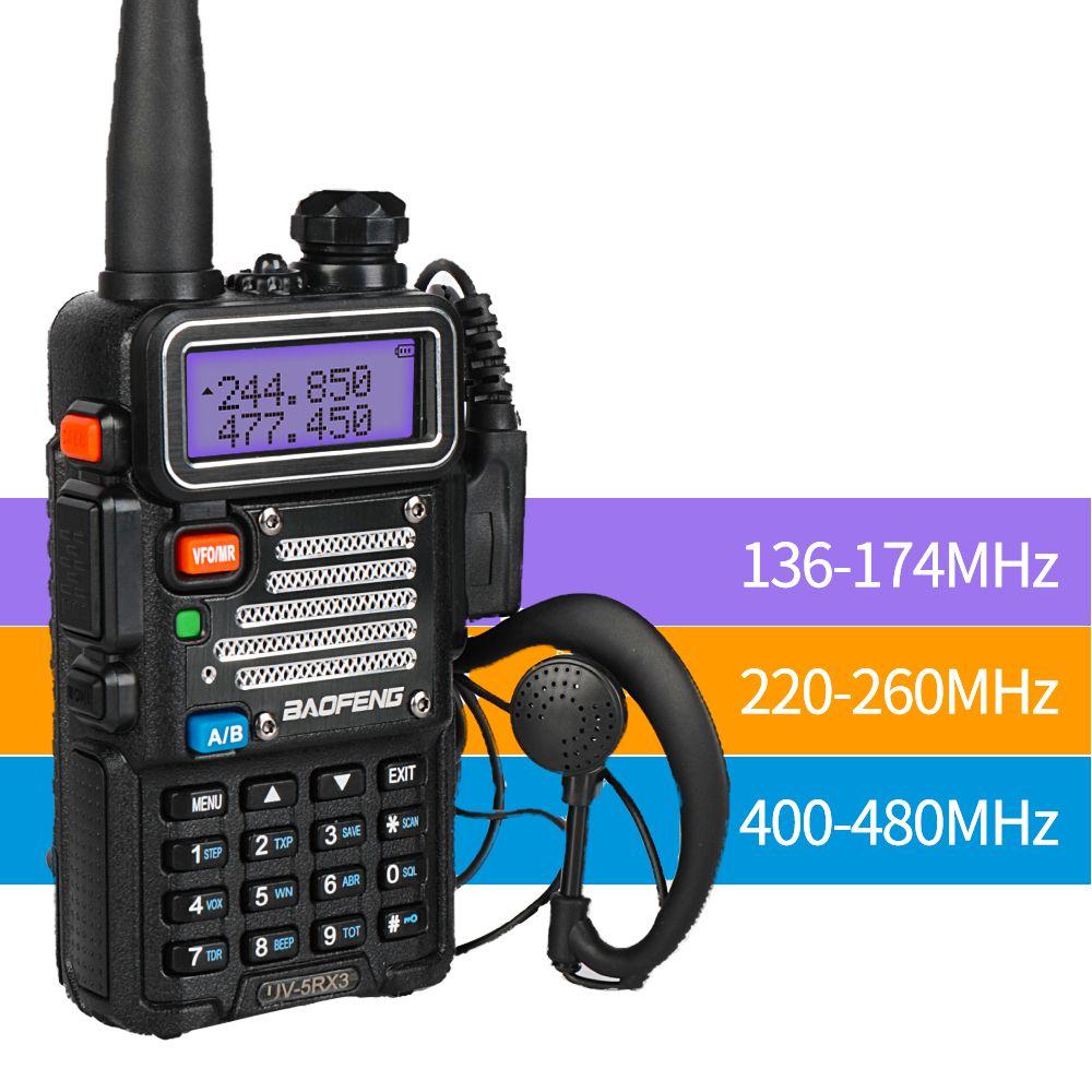 Baofeng UV-5R X3 Tri-Band 136-174/200-260/400-520 Portable Walkie Talkie Two way Radio + 2x Radio Antenna comunicador cb radio