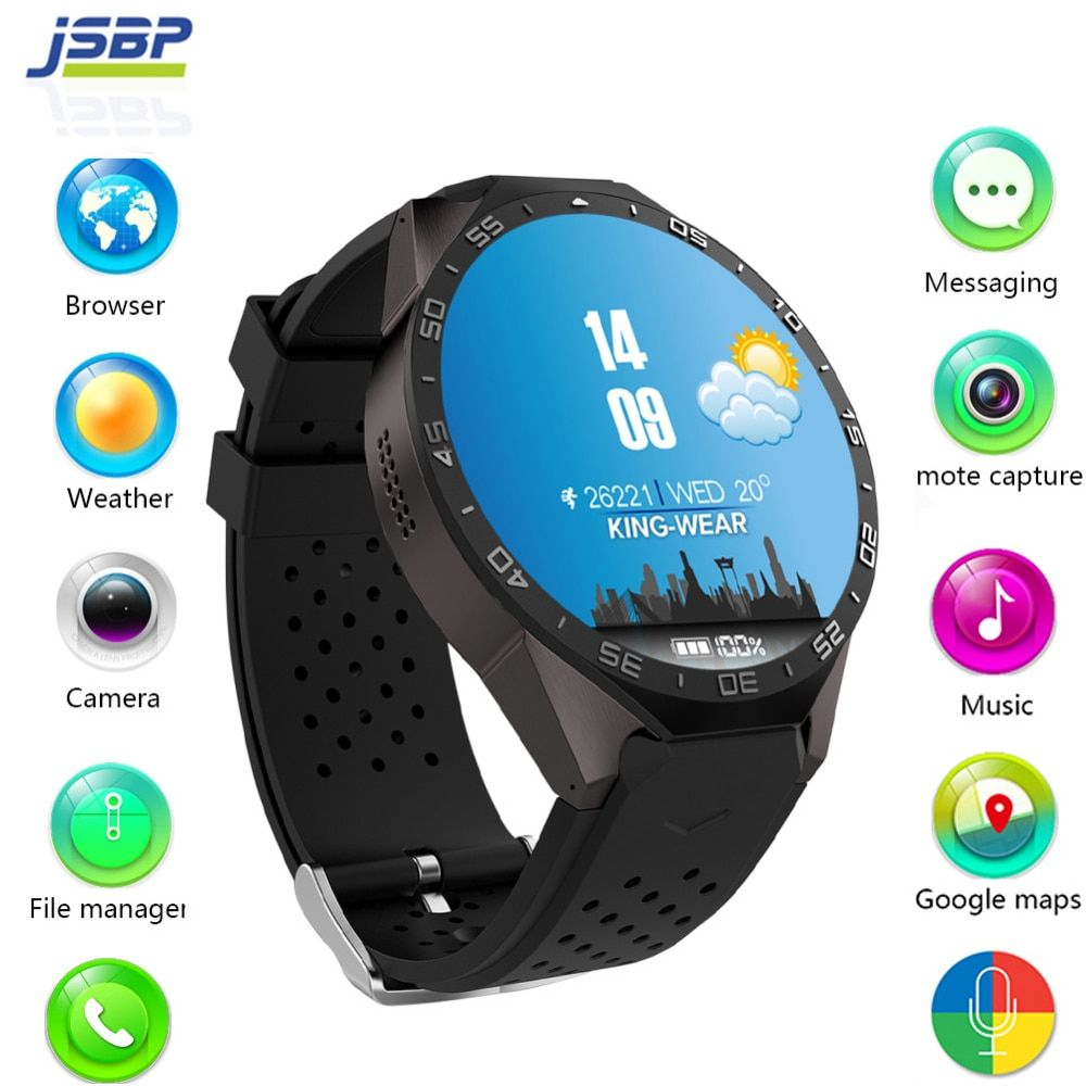 kingwear Kw88 android 5.1 OS Smart watch electronics android 1.39 inch mtk6580 SmartWatch phone support 3G wifi nano SIM WCDMA