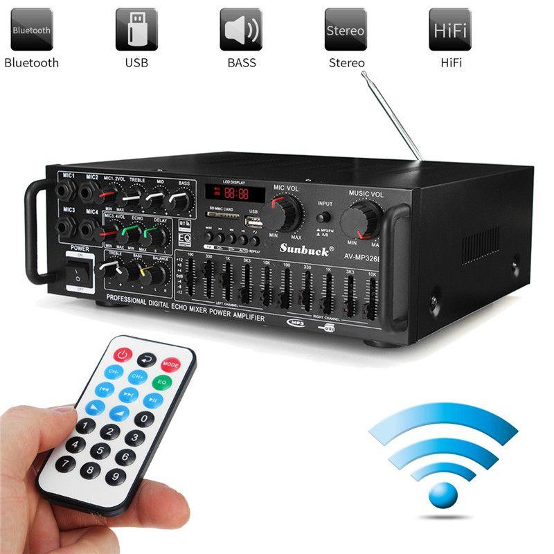 800 watt Universal Bluetooth Auto Auto Stereo Power Verstärker Auto Sound Wireless Verstärker 2 Kanal EQ Hifi Stereo Audio Verstärker