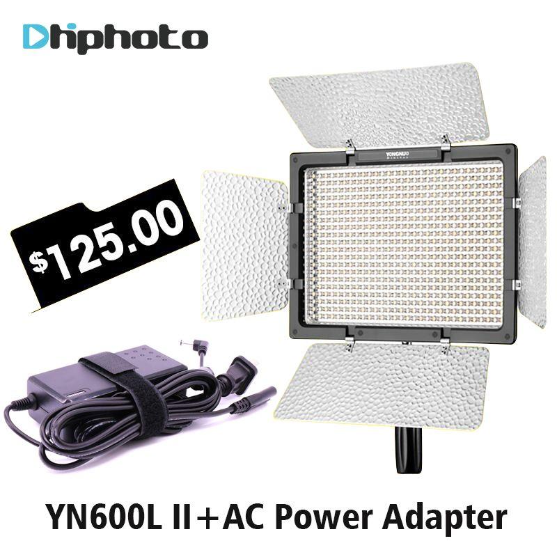 Yongnuo YN600L II YN600 II 3200K-5500K Panel LED Video Light with Falcon Eyes Adapter Set Support Bluetooth Control by Phone App
