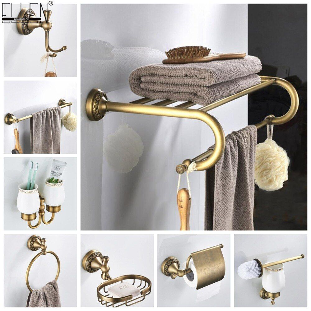 Accessoires de salle de bain Antique Bronze serviette étagère porte-papier hygiénique porte-savon porte-serviettes porte-linge Antique Bronze ELF4001