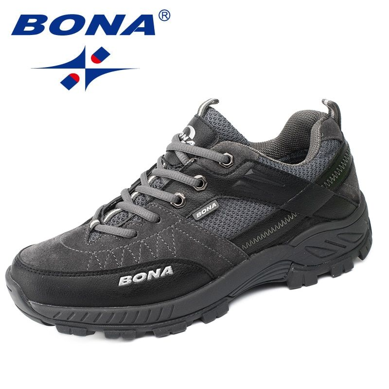 BONA New Classics Style Men Hiking Shoes Outdoor Walking Trekking Men Sneakers Antiskid Climbing Men Shoes Fast Free Shipping