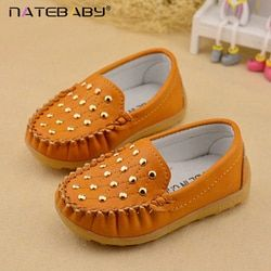 Natebaby 2017 Spring All-match Male Virgin Children Doug Shoes Dichotomanthes Bottom Rivet Shoes 21-30 Code Wholesale NG0519