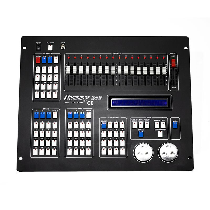 Sunny512 Channels DMX512 DMX Controller Console DJ Disco Equipment DMX Lighting Consoles Professional Stage Lights Control Equip