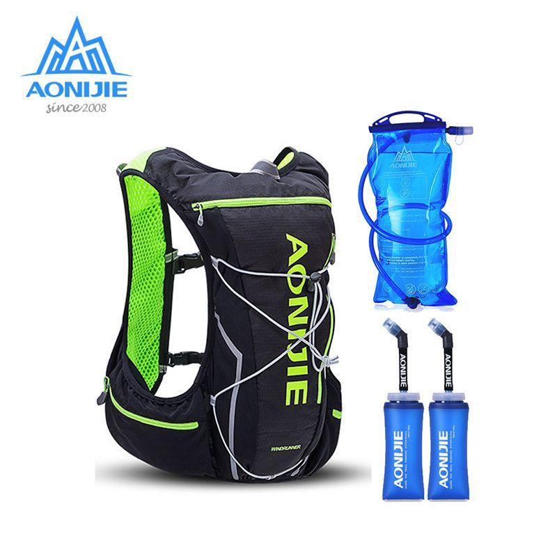 2018 AONIJIE Pro Männer Frauen 10L Außen Taschen Wandern Rucksack Weste Marathon Radfahren Rucksack Optional Flasche Wasser Tasche
