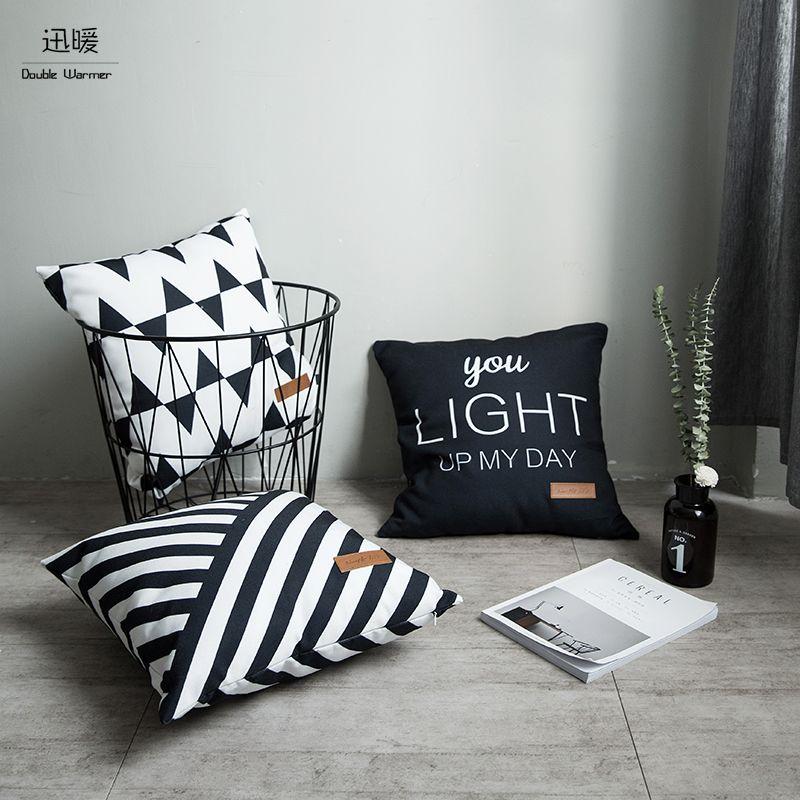 New 45x45cm Euro Style Simple Life Sofa Cushion Soft Pillow Cojines Almofadas Cotton Linen Square 12colors washable Pillowcases