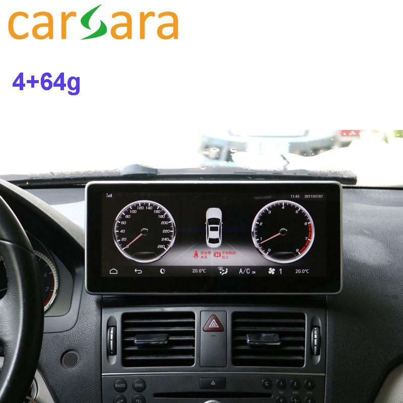 Auto Radio Bildschirm für Mercedes Ben z C KLASSE W204 GLC W205 2008 zu 2018 4g RAM 64g ROM