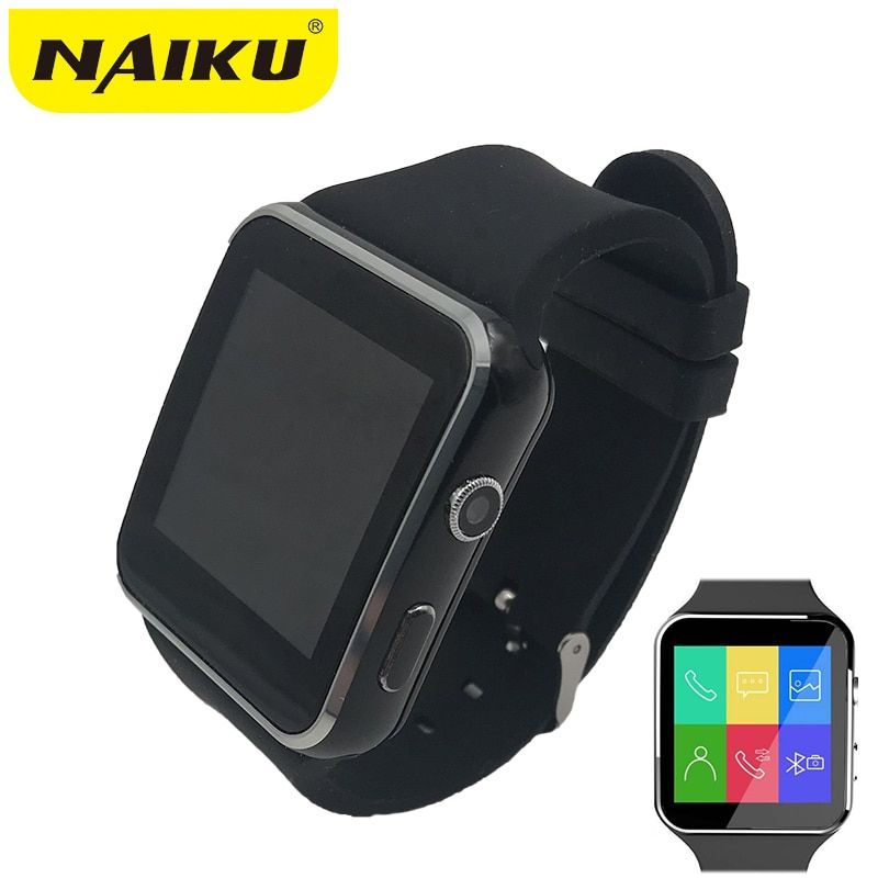 N6 Bluetooth <font><b>Smart</b></font> Watch Sport Passometer Smartwatch with Camera Support SIM Card Whatsapp Facebook for Android Phone