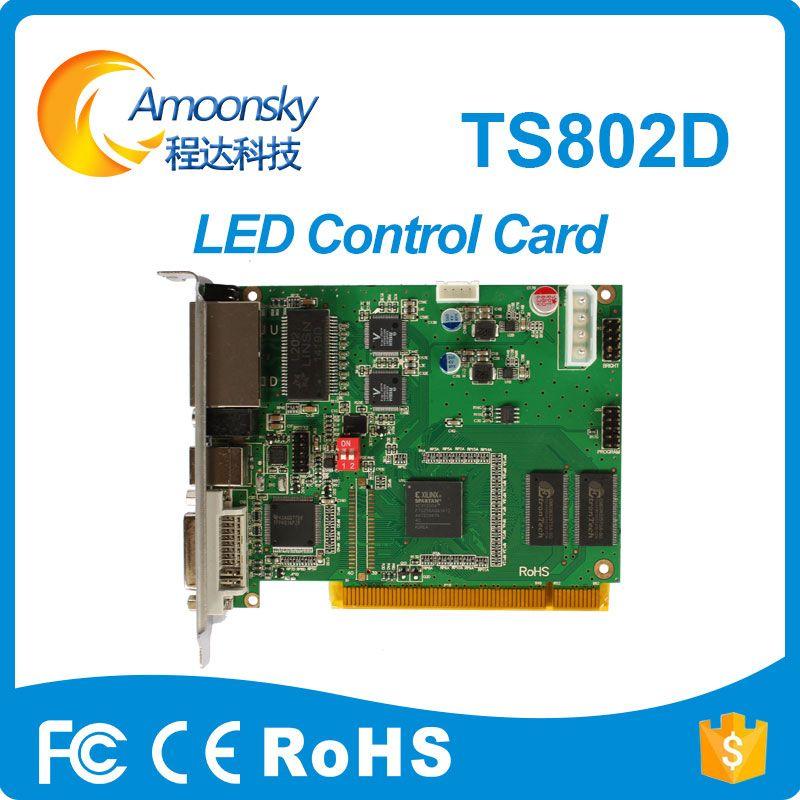 Linsn TS802D отправки карты для rgb видео контроллер дисплея TS802 заменить светильни системы управления TS801 ts801d отправки карты