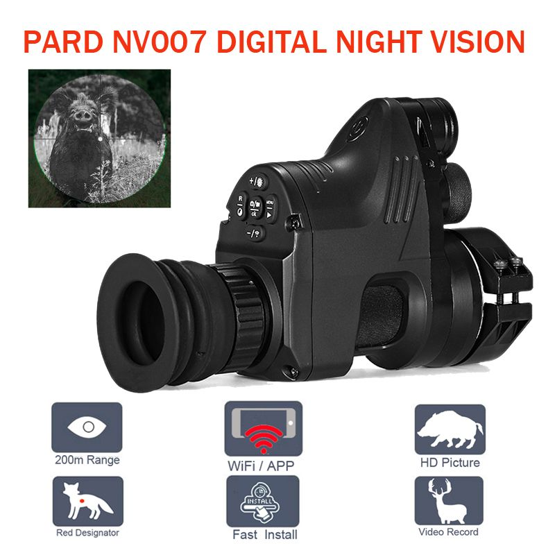 PARD NV007 200m Range Digital Hunting Night Vision Scope Wifi Optics Telesopes 5W IR Infrared Night Vision Riflescope with APP