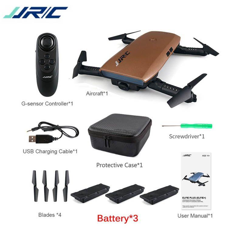 JJRC H47 ELFIE Plus w/ HD Camera Upgraded Foldable Arm Selfie Drone FPV RC Quadcopter VS JJR/C H37 Mini Eachine E56 E50 E52