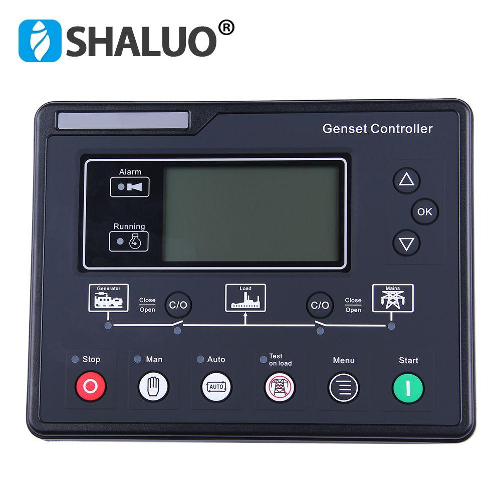 SL6120 AMF Diesel Generator Set Controller LCD Automatische starten aggregat Ats control box terminal ladung panel lichtmaschine teil 6120