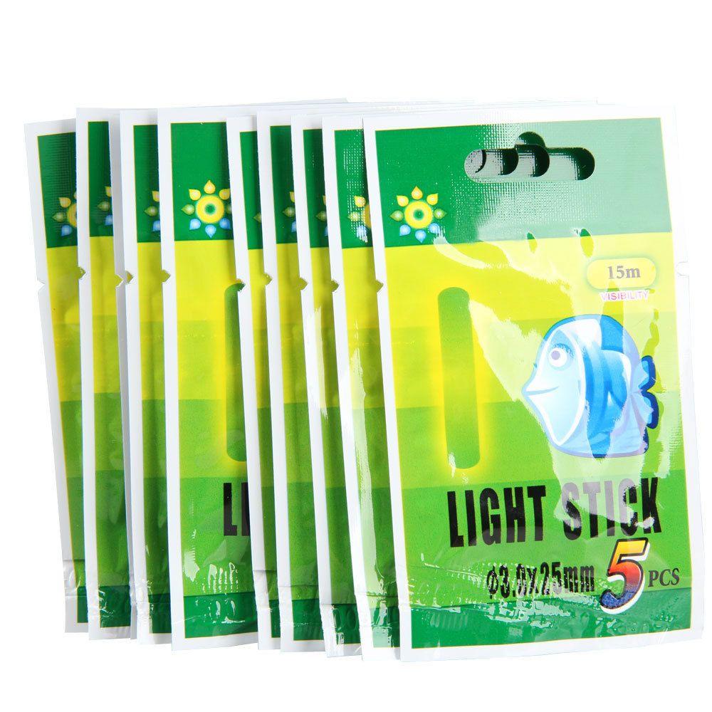 50 Teile/beutel 4,5*37mm Angeln Fluoreszierende Leucht Light Night Float Stange Lichter Dark Glow Stick Nützlich Viele angeln float Pesca