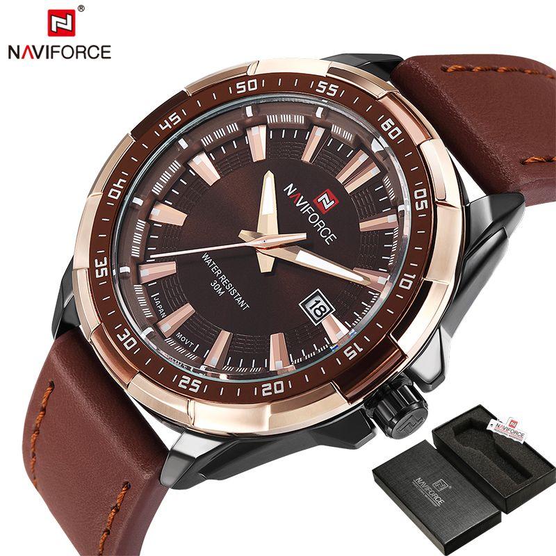 <font><b>NAVIFORCE</b></font> Original Brand Fashion Men's Watch Quartz Watch Men Waterproof Wrist watch Military Clock relogio masculino