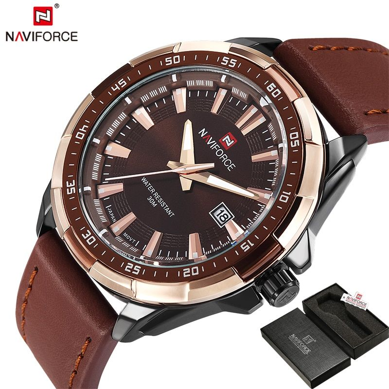 NAVIFORCE Original Brand Fashion Men's Watch Quartz Watch Men Waterproof Wrist watch Military Clock relogio <font><b>masculino</b></font>