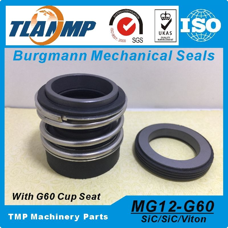 MG12-45 (MG12/45-G60) Burgmann Mechanical Seals for Water Pumps with G60 stationary seat-(Material:SIC/SIC/VITON)