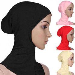 Doux Musulman Pleine Couverture Intérieure Hijab de Femmes bonnet Cap Islamique Underscarf Cou Tête Capot Chapeau 6YQA