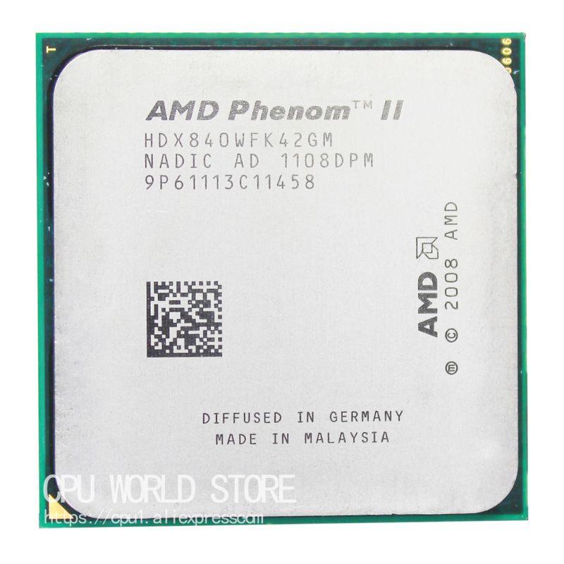 AMD Phenom II X4 840 Quad-Core CPU Prozessor 3,2 Ghz/4 Mt/95 Watt Sockel AM3 AM2 + 938 pin
