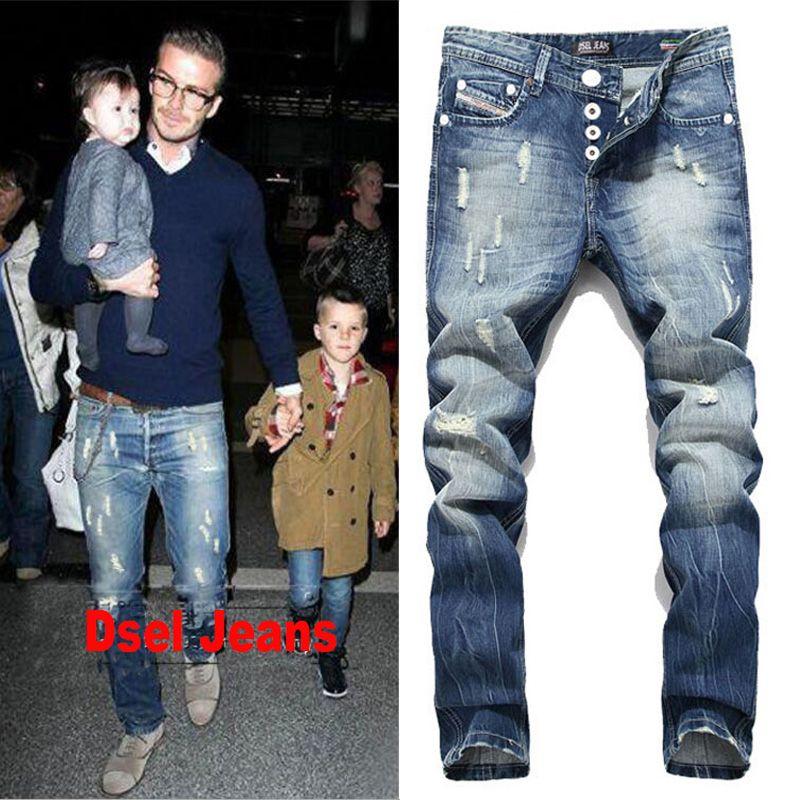 2017 New Arrival Fashion Dsel Brand Men Jeans Washed Printed Jeans For Men Casual Pants Italian Designer Jeans Men!B982