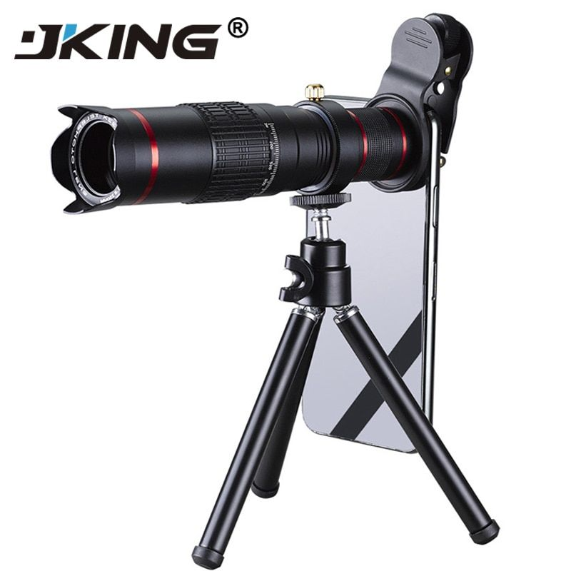 JKING HD 4K 22x Zoom Mobile Phone Telescope Lens Telephoto External Smartphone Camera Lenses For IPhone Sumsung huawei phones