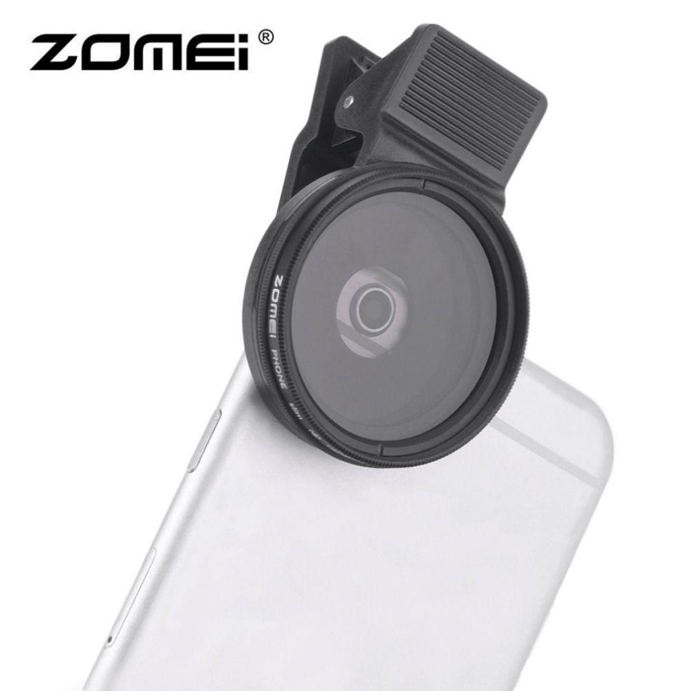 3 Dans 1 ZOMEI Universel 37 MM CPL + Close Up Filtre + ND2-400 ND Fader Filtre Kit Professionnel M1 Téléphone Lentille Filtre Pour iPhone samsung