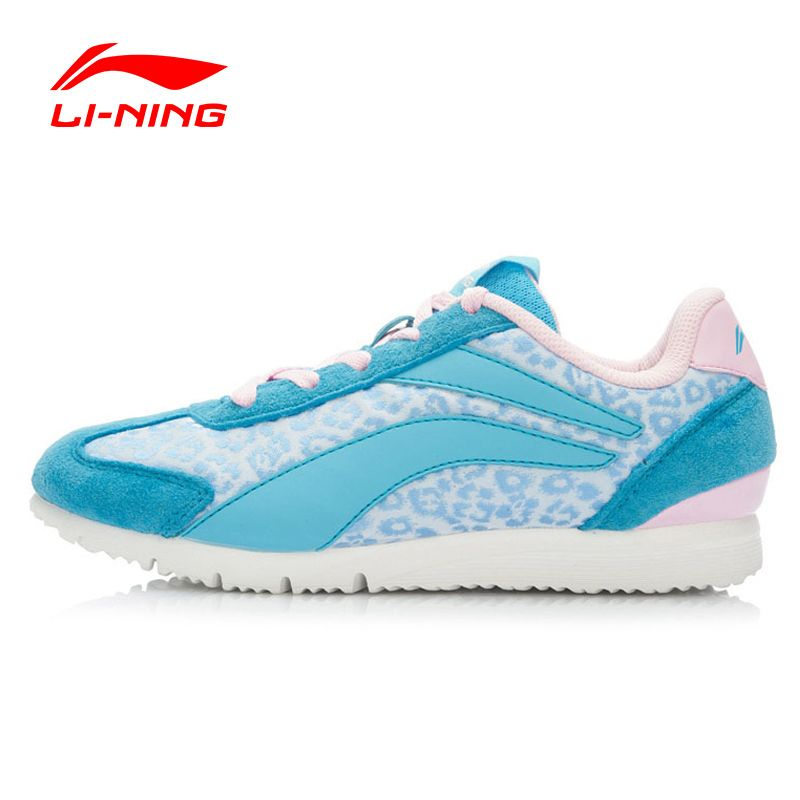 Li-Ning 2016 Spring Women Walking Shoes Leather Shiny Color Breathable Sneakers Sport Shoes Sapatilhas  ALCK078 XWC349