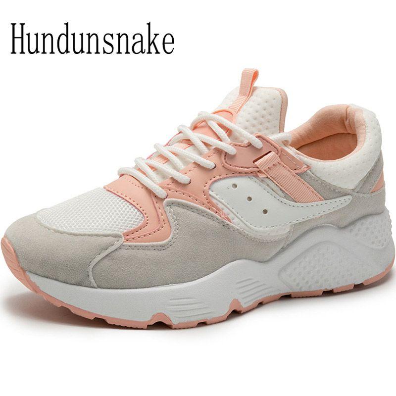 Hundunsnake White Sneakers Women 2017 Basket Femme Running Shoes Ladies Sport Shoes Women Gumshoes Female Krasovki Jogging T464