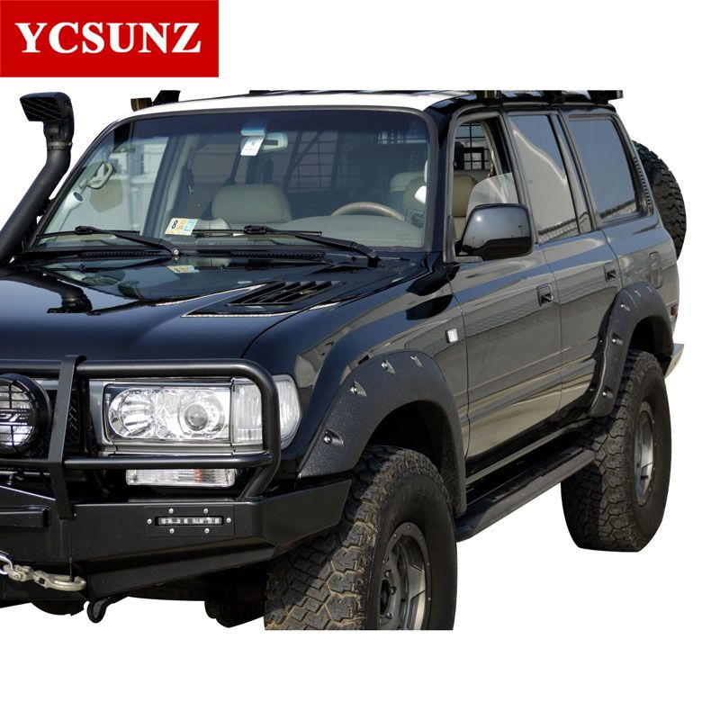 fender flares for toyota land cruiser fj80 1990-1998 wheel arch Fender For Toyota land cruiser lc80 Accessories Mudguard YCSUNZ