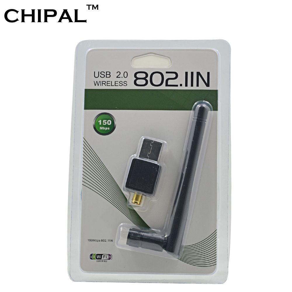 CHIPAL 150M External USB WiFi Adapter Antenna Dongle Mini Wireless LAN Network Card 802.11n/g/b for Windows XP Vista Win7 Win8