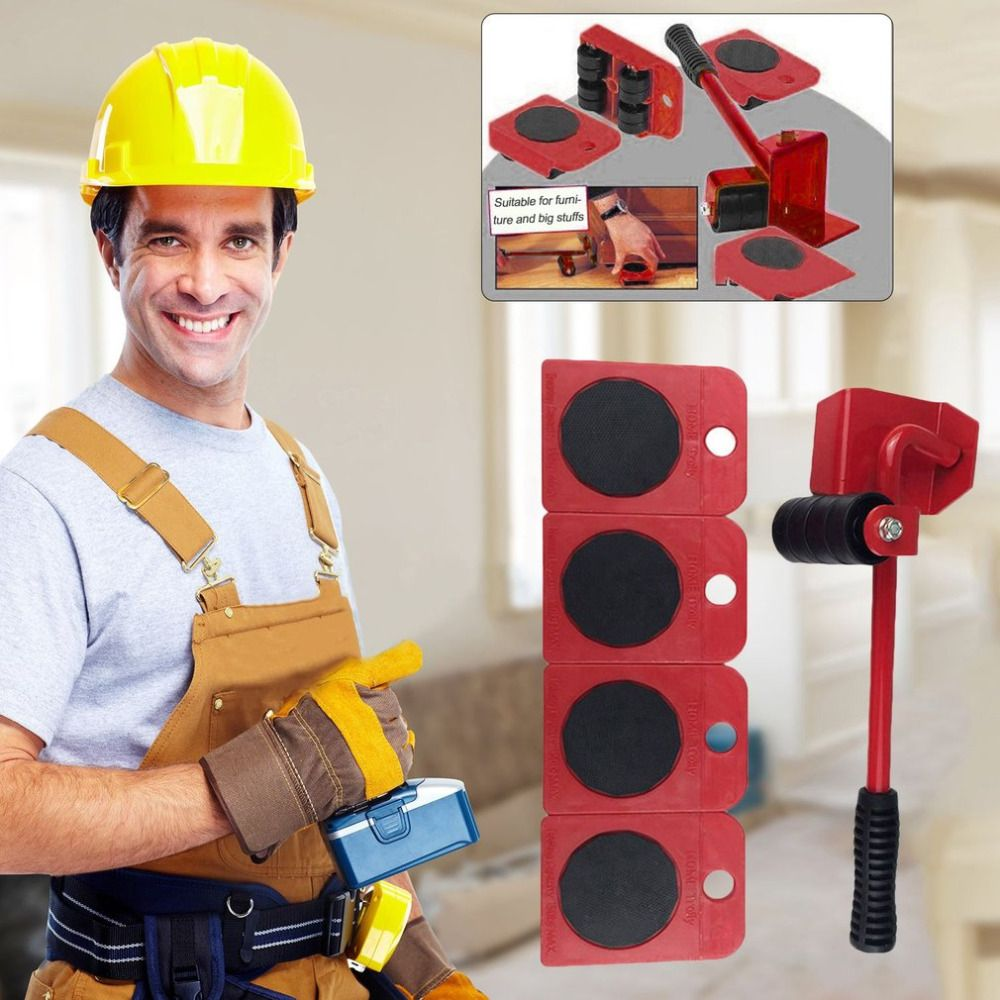 Durable Furniture Moving System With Lifter Tool And 4 Wheels Furniture Moving Heavy Stuffs Moving Tool Home Utilities