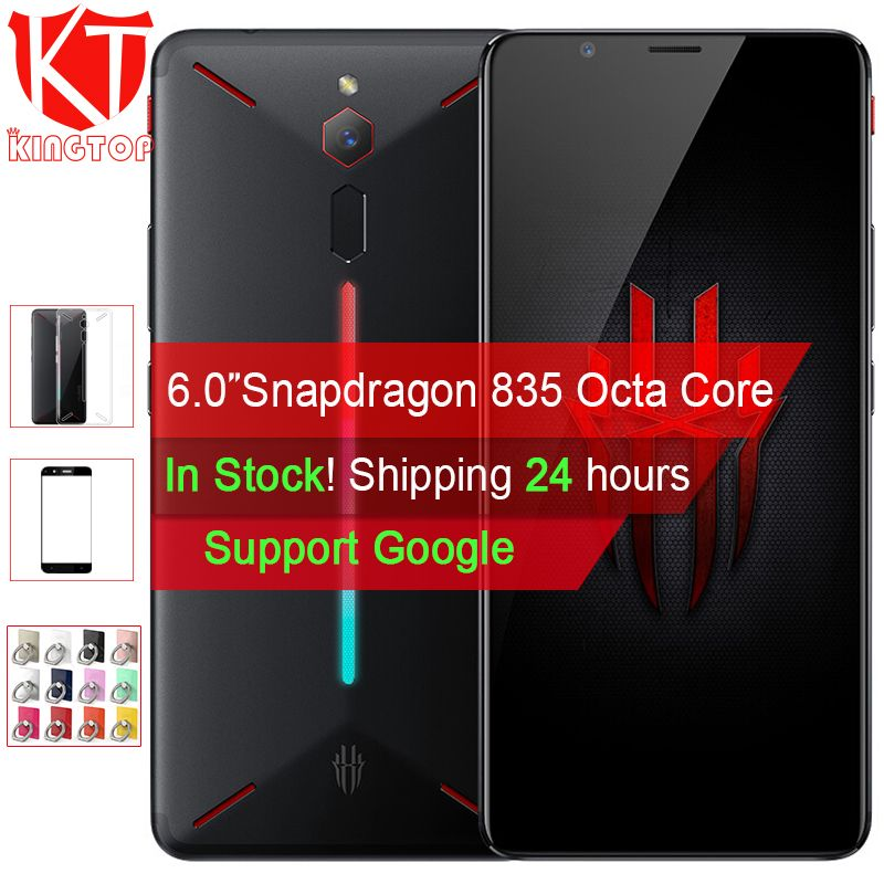 Original ZTE Nubia Rot Magie Spiel Handy 6 Octa Core 6/8 GB 64/128 GB full Screen Fingerprint Android 8.1 4G LTE Smartphone