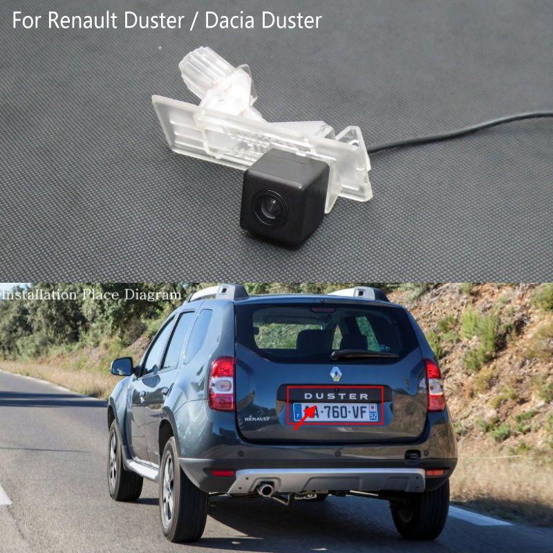 Lyudmila pour Renault Duster/Dacia Duster/caméra de recul/caméra de sauvegarde HD/Installation de lumière de plaque d'immatriculation