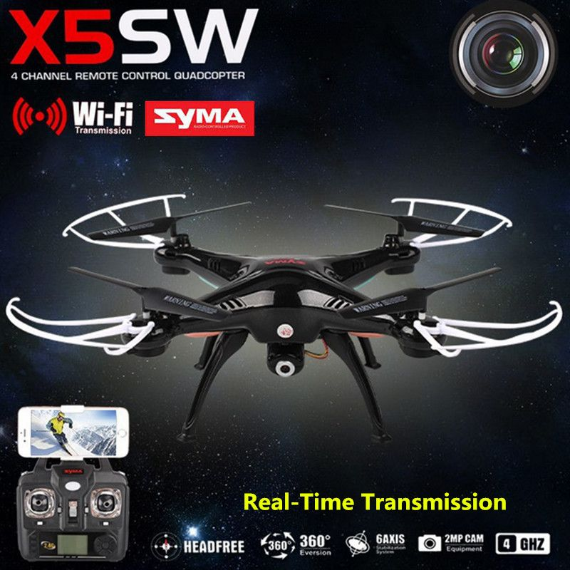 <font><b>SYMA</b></font> X5SW RC Helicopter Aircraft FPV Mini Drone with Camera 4-Channel Mobile Wifi Real-Time Transmission Toys USB Quadcopter