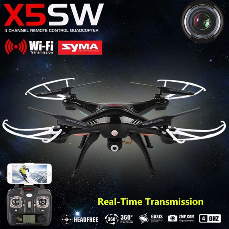 SYMA X5SW RC Helicopter Aircraft FPV Mini <font><b>Drone</b></font> with Camera 4-Channel Mobile Wifi Real-Time Transmission Toys USB Quadcopter