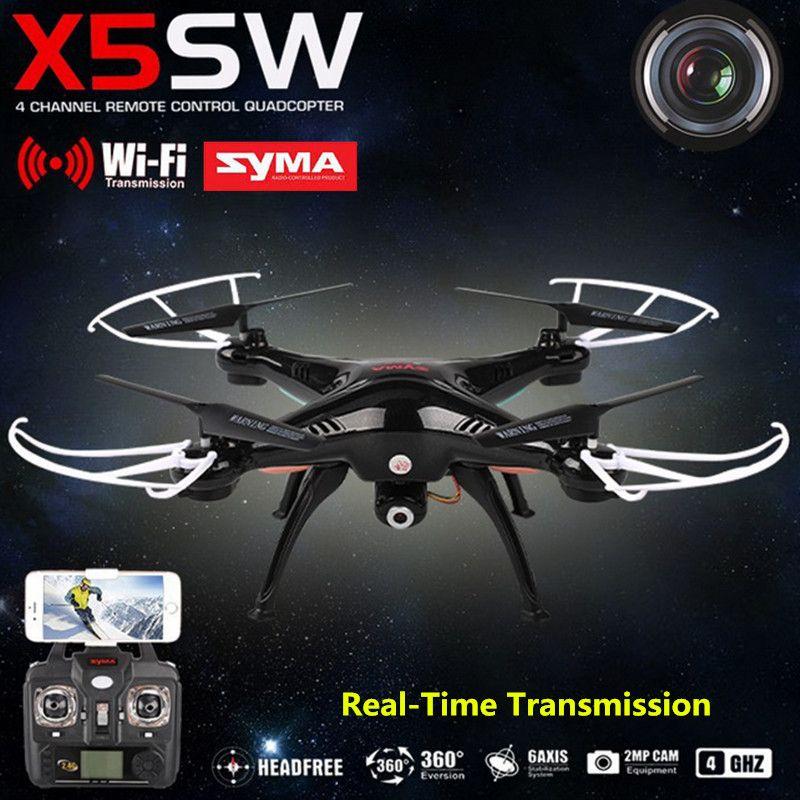 SYMA x5sw Вертолет Самолет FPV-системы мини Drone с Камера 4-канальный Мобильный Wi-Fi в режиме реального времени Трансмиссия Игрушечные лошадки USB ...