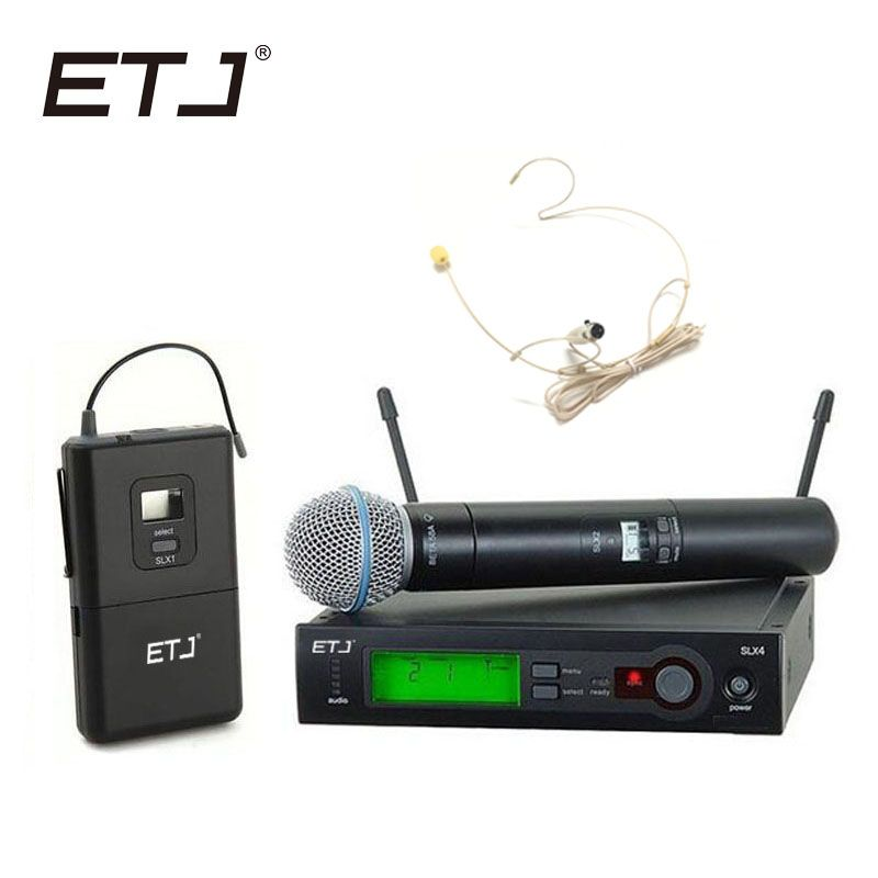 Top Quality SLX SLX24 BETA58/SM 58 UHF Professional Wireless Microphone System Super Cardioid BETA Handheld Microfone Mic