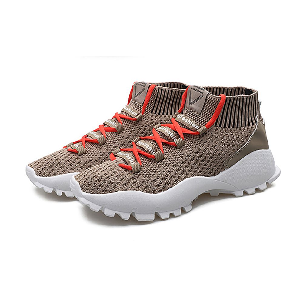 2018 autumn and winter new lightweight flying woven men's shoes breathable running sneakers