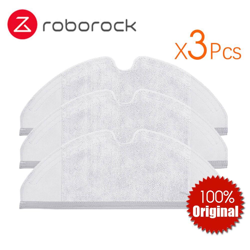 3 stücke Original Roborock Teile S50 S51 Mop Tücher für Xiaomi Staubsauger Generation 2 Trocken Nass Wischen Reinigung