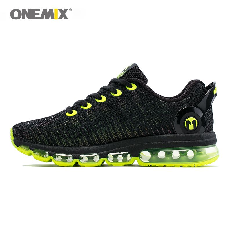 Onemix men running shoes discolour mesh colorful reflective vamp breathable sneakers for outdoor sports jogging walking shoe