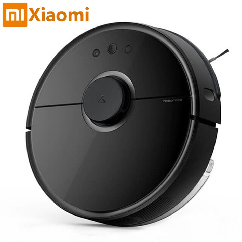 New Xiaomi Robot Vacuum Cleaner Roborock Black S55 Mijia Mopping Sweeping Robot Vacuum Cleaner Remote Mihome APP Wifi Control