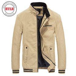 Htlb 2017 Baru Musim Semi Musim Gugur Pria Jaket Mantel Pria Dicuci 100% Kapas Murni Merek Pakaian jaket Pria Mantel