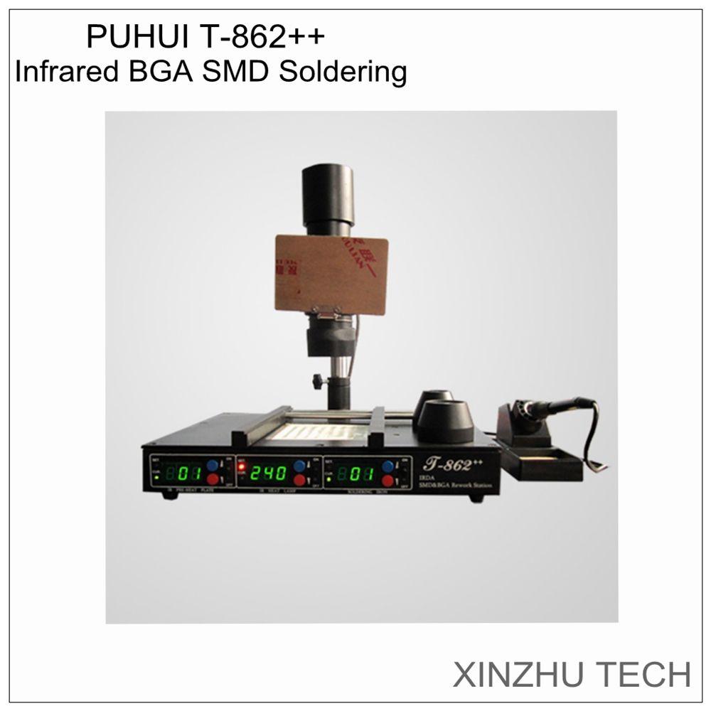 PUHUI T862 + + IR rework station IRDA schweißer infrarot löten BGA SMD Rework Infrarot Station Kostenloser versand