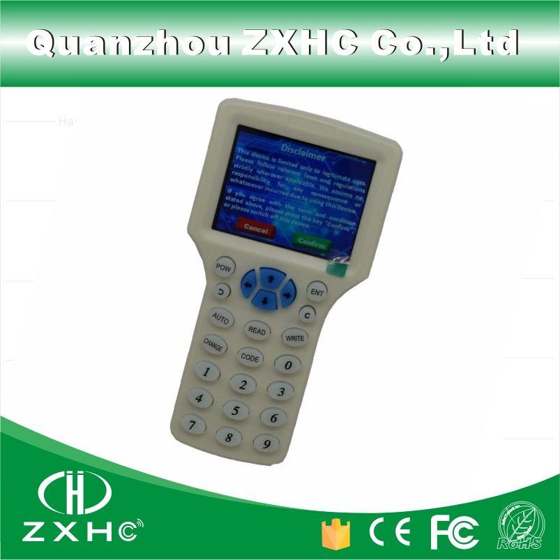 Langue anglaise RFID lecteur graveur copieur duplicateur 125 Khz 13.56 Mhz 10 fréquence avec câble USB pour IC/cartes d'identité écran LCD