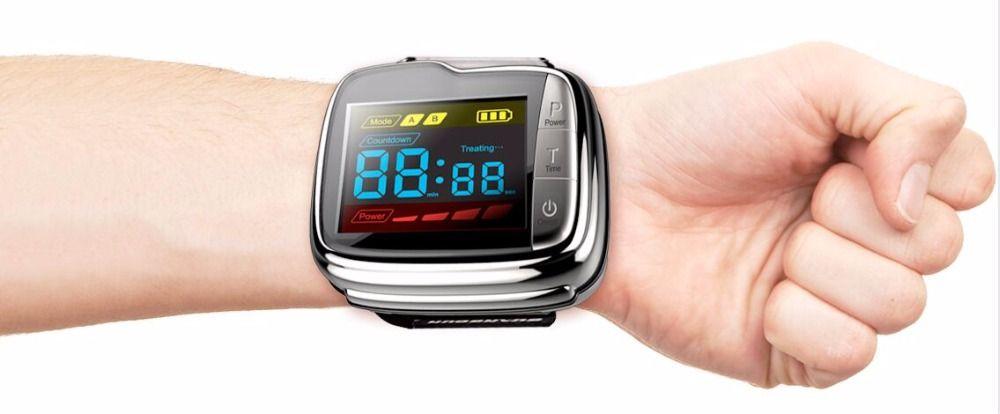 Home laser glucose monitor handgelenk kalten laser blutdruck behandlung uhr