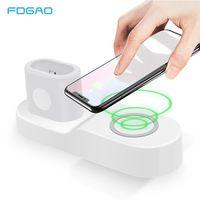 FDGAO 4 в 1 Беспроводной зарядный коврик для Apple Watch 3 2 1 iPhone X Xs Max XR 8 AirPods быстро Беспроводной зарядки для samsung S9 S8