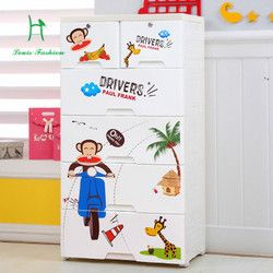 Plastik laci lemari kartun anak lemari loker pakaian bayi lemari kotak laci